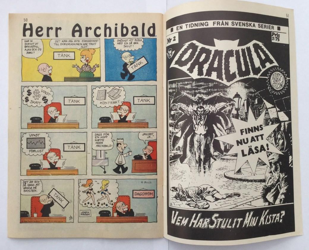 Archibald i Serie-Pressen nr 18, 1972