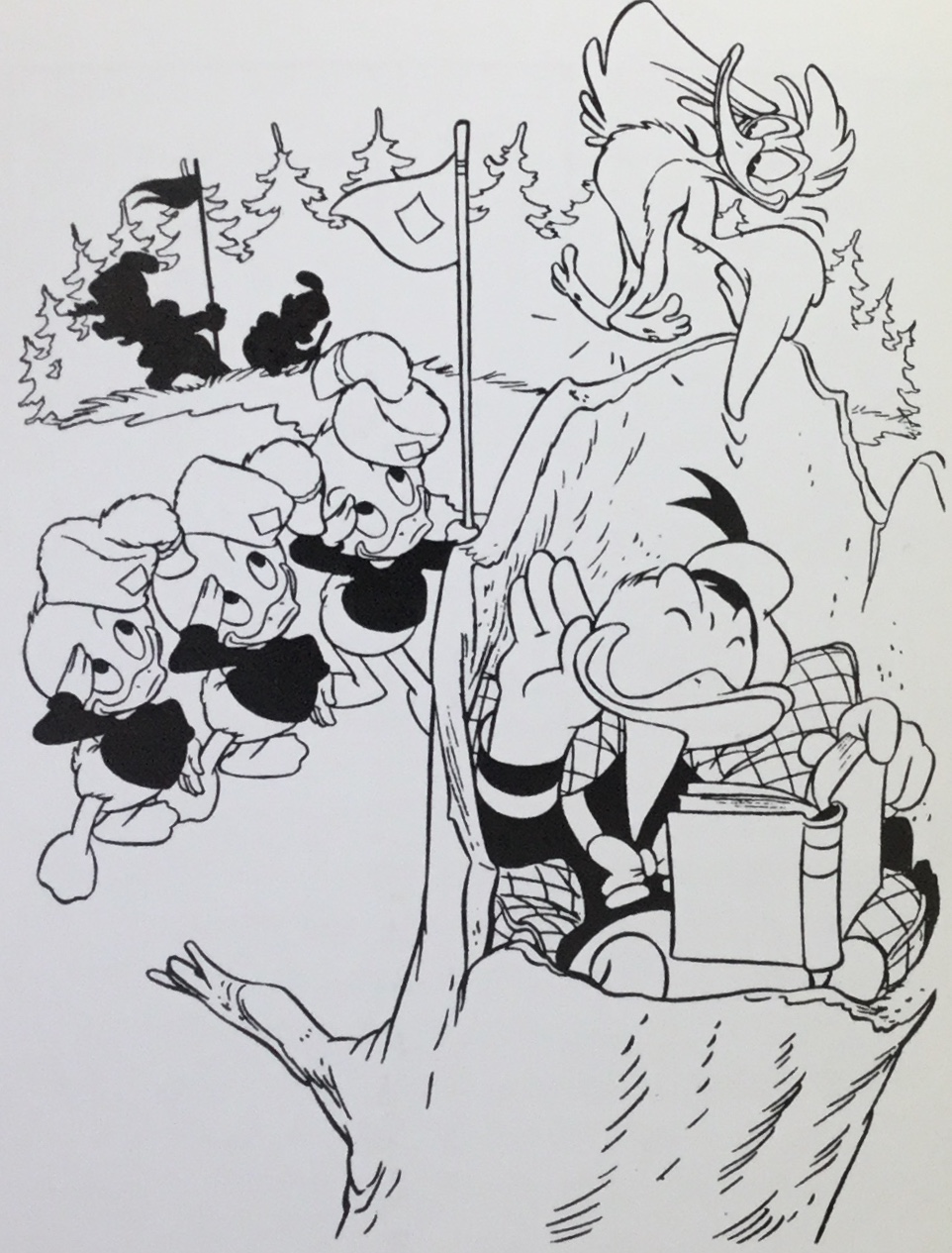 Daan Jippes tecknade i en stil som påminner om Carl Barks