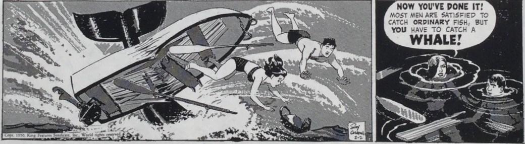 Roy Crane skapade olika gråskalor genom rastrering med Craftint. ©KFS