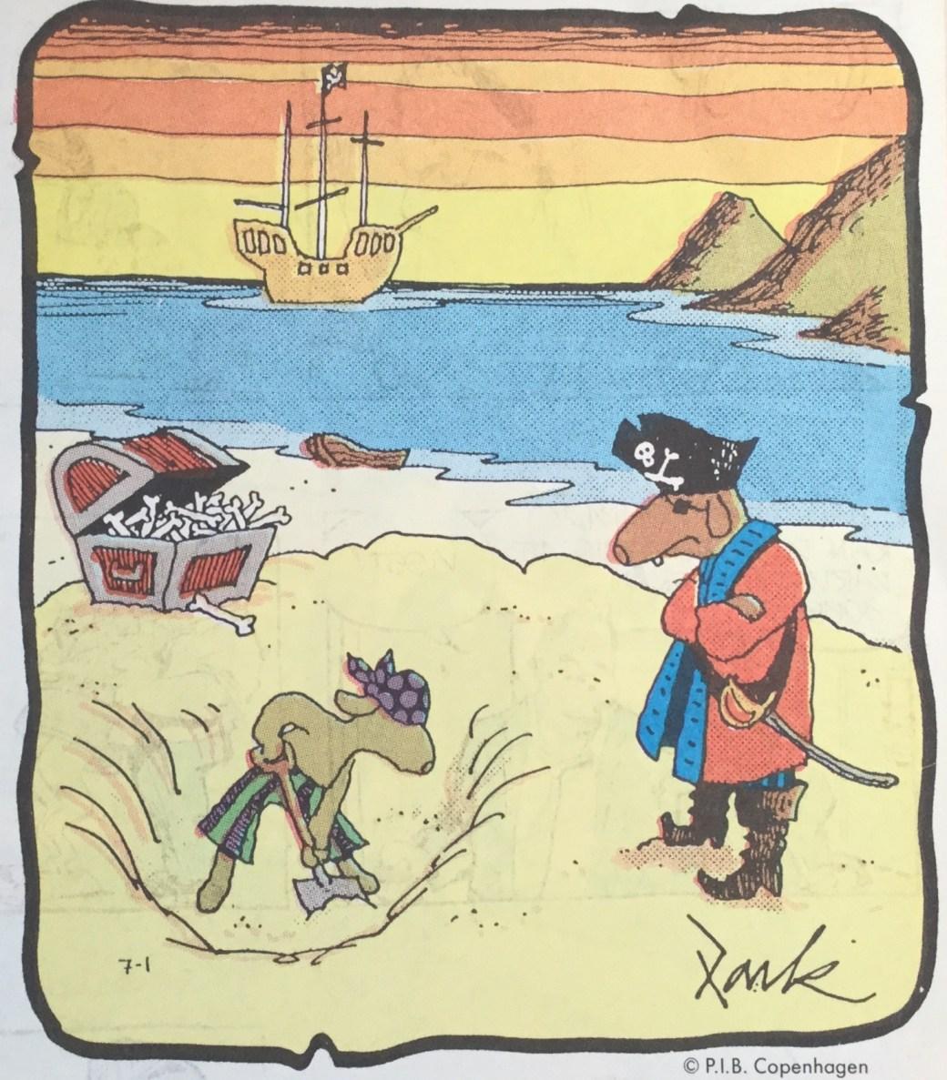 En skämtteckning ur SeriePressen nr 1, 1993