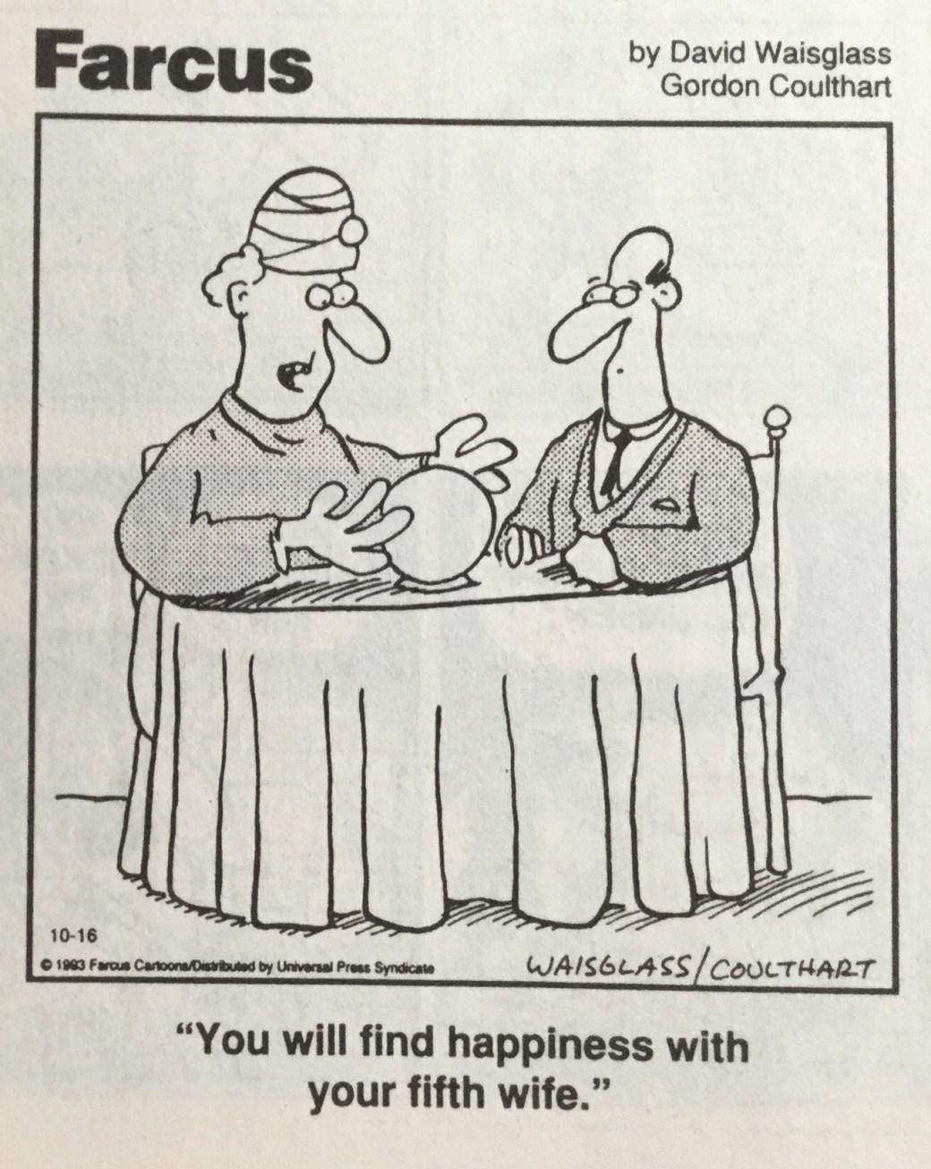 Farcus av David Weisglass och Gordon Coulthart är ett exempel på skämtteckningar i serietidningar