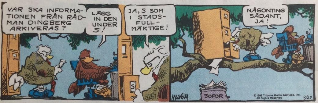Krax och Professorn driver tidningen Skogens härold