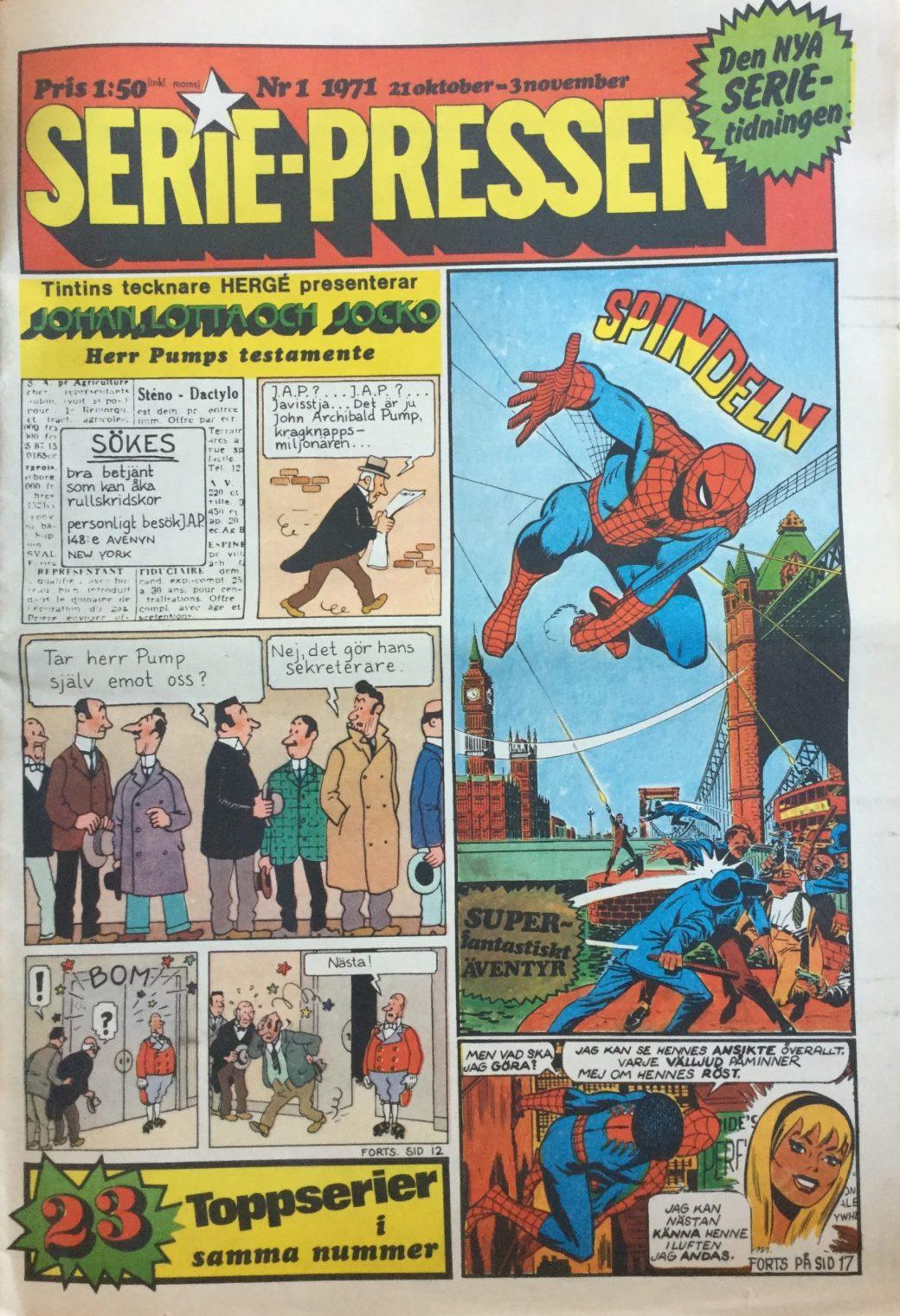 Serie-Pressen nr 1, 1971, premiärnumret