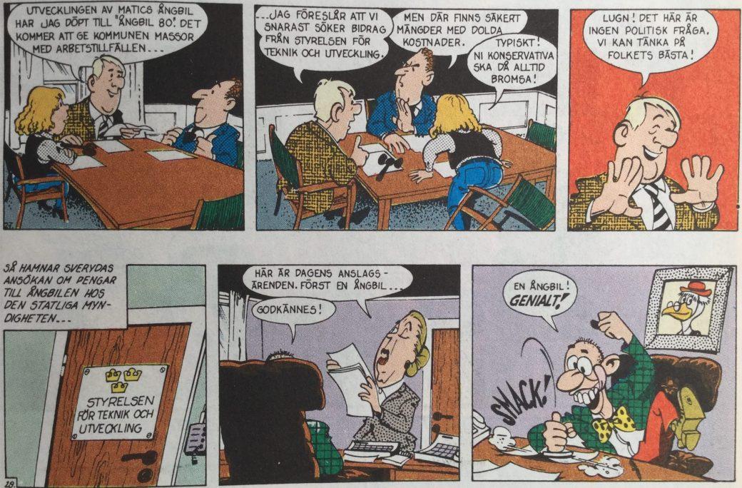 Sveryda publicerades i en bilaga till SeriePressen nr 1, 1994