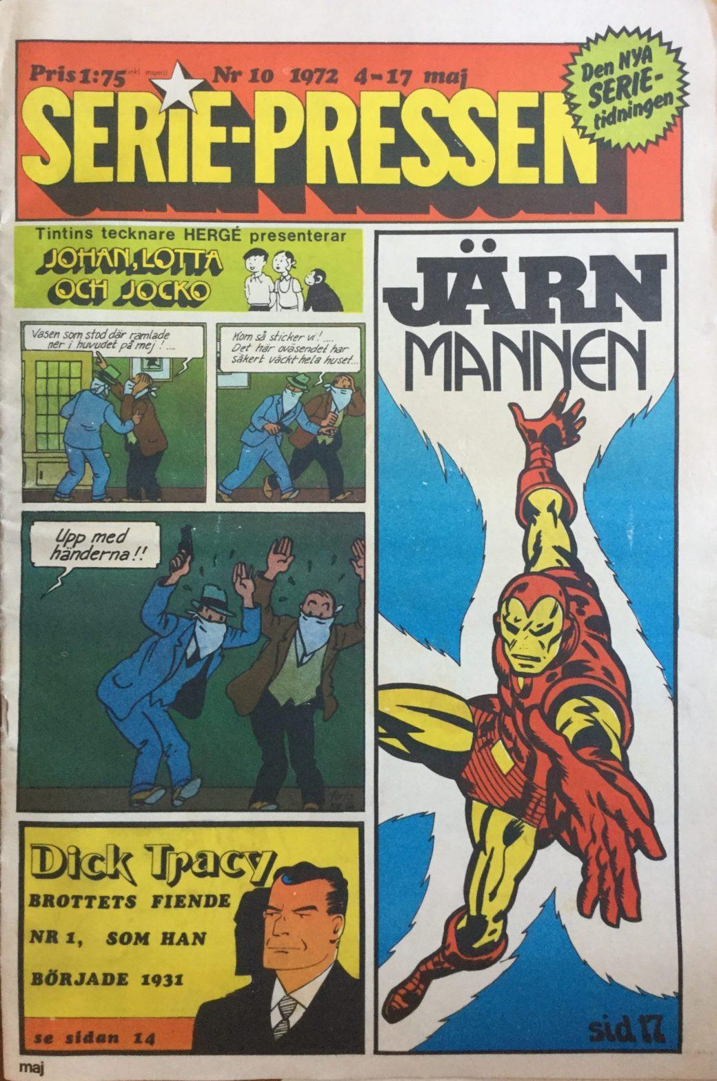 Serie-Pressen nr 10, 1972, sista numret i tabloidformat