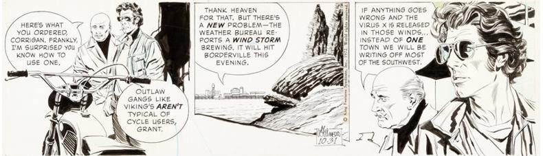 Secret Agent Corrigan, här en stripp från 31 oktober 1972