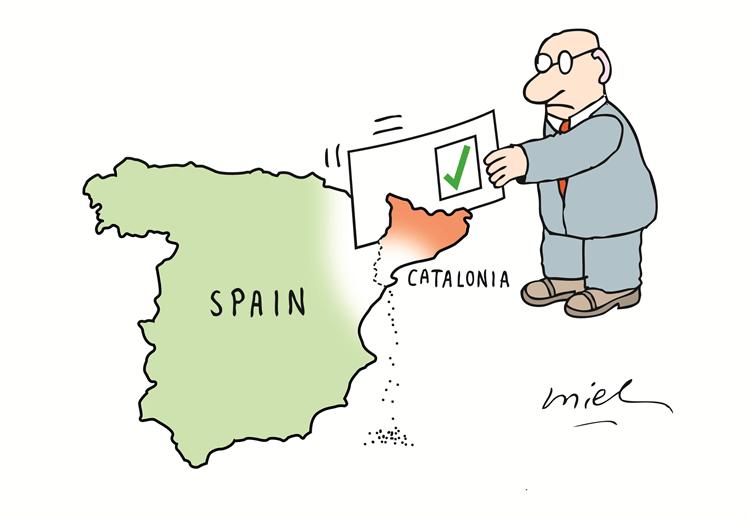 Deng Coy Miel om den katalanska folkomröstningen om självständighet