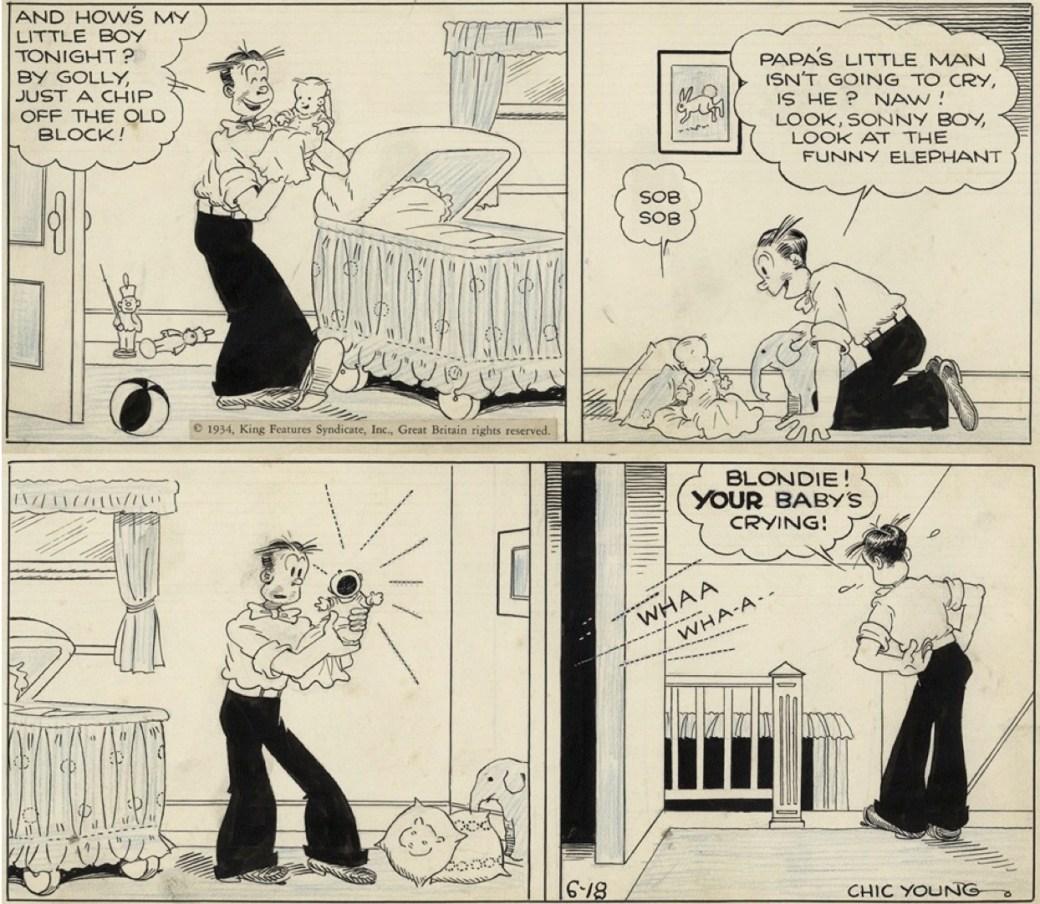 En dagsstripp av Chic Young från 18 juni 1934