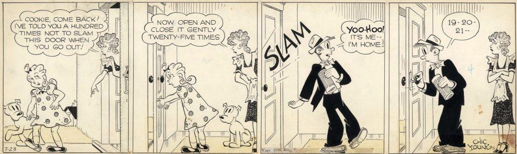 Dagsstripp med Blondie från 23 juli, 1948