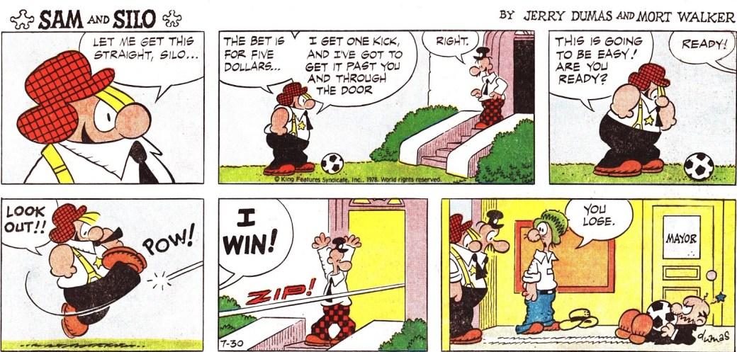 Sam and Silo söndagssida från 30 juli 1978