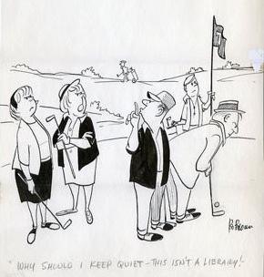 Linkert tecknade ofta om golf