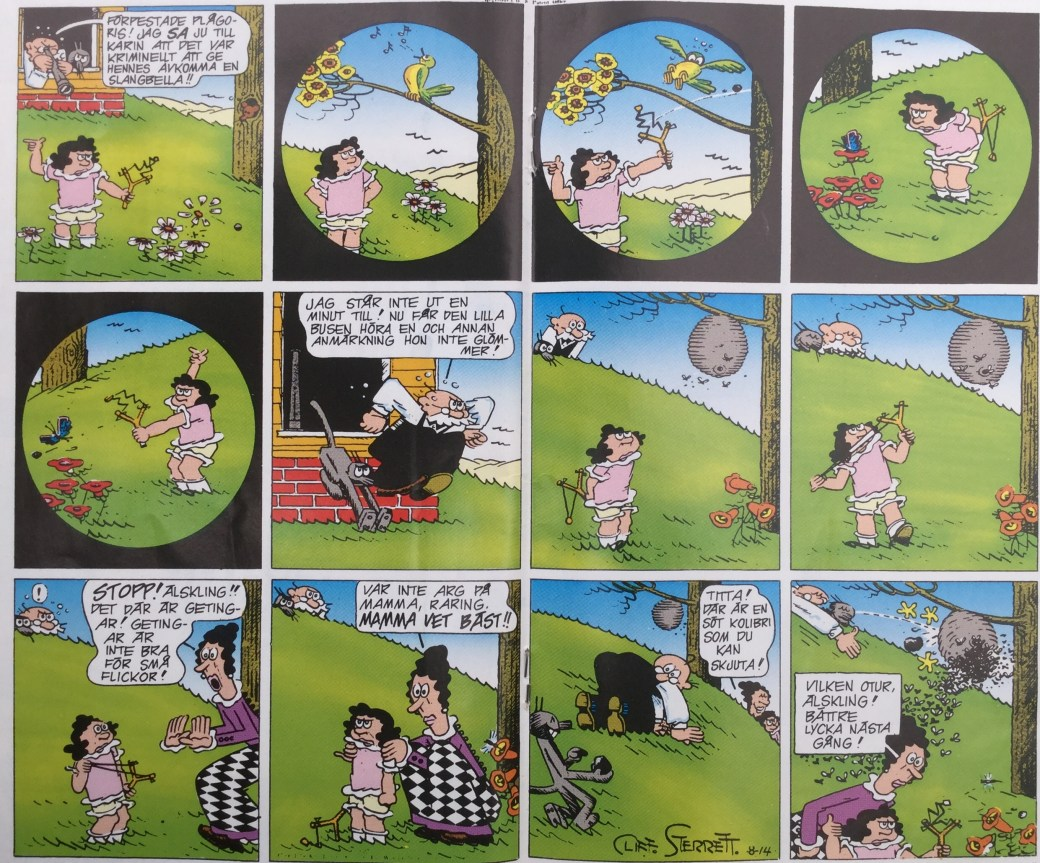 Polly och Pär ur SeriePressen nr 2, 1993