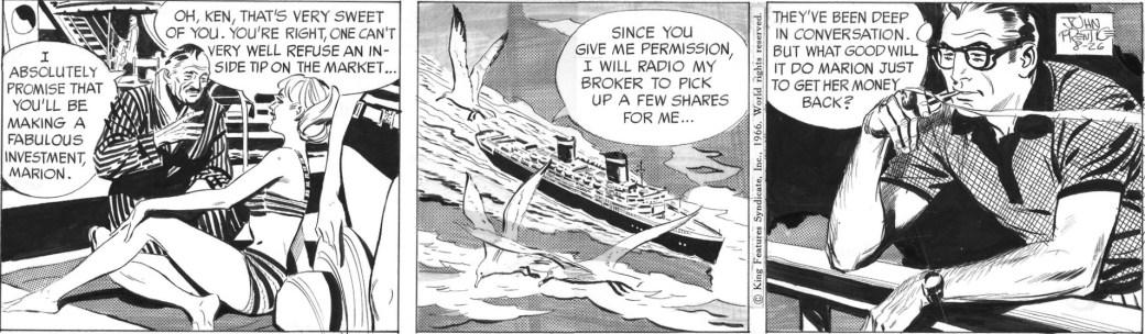Rip Kirby av John Prentice från 26 augusti 1966