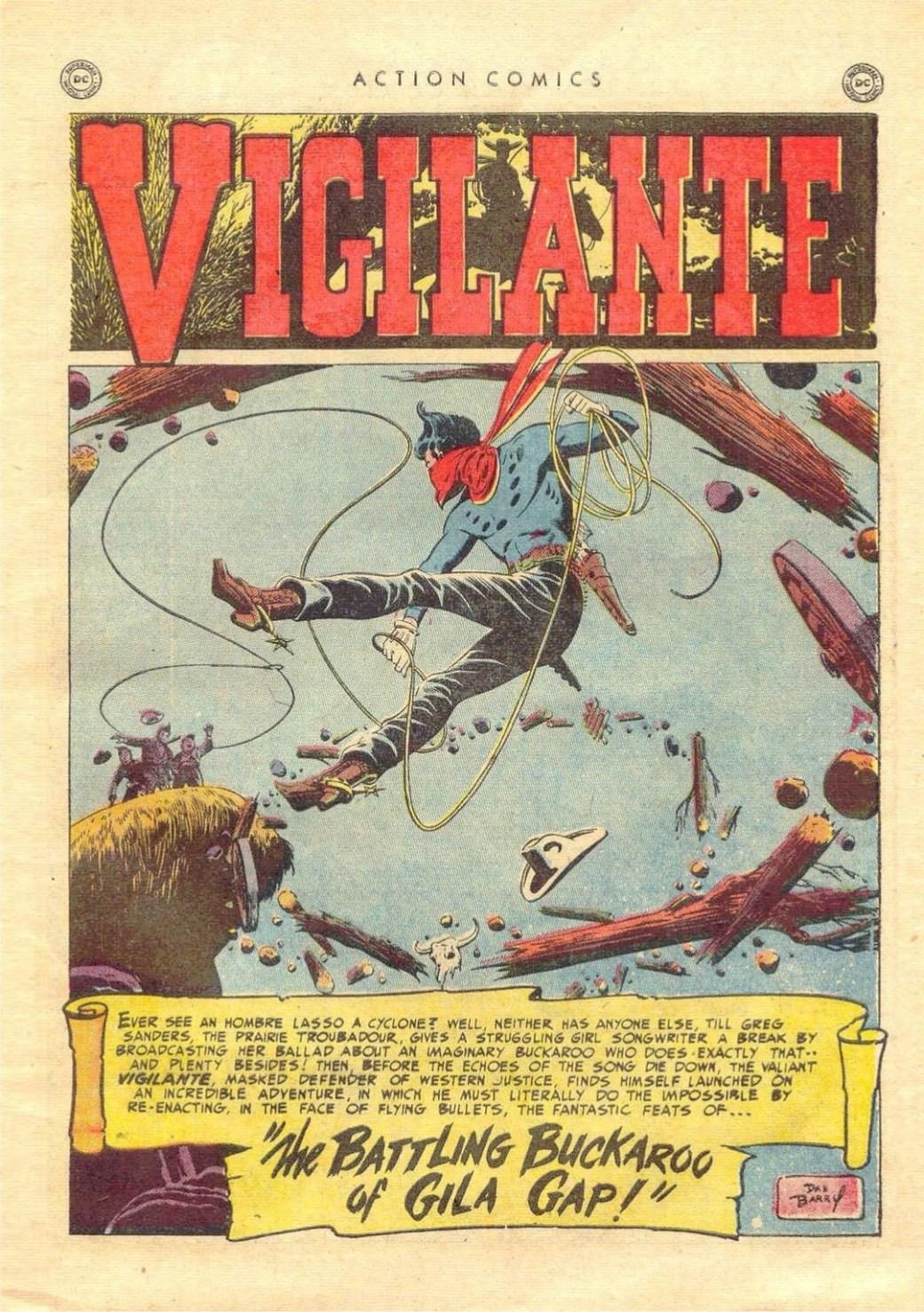 Vigilante av Dan Barry ur Action Comics