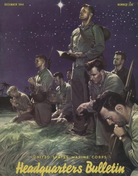 """Marines at Prayer"", december 1944"