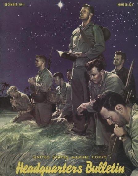 """""""Marines at Prayer"""", december 1944"""