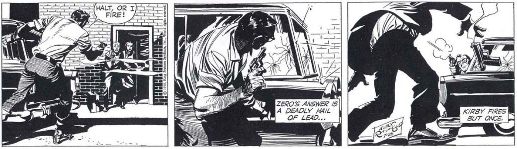 En Rip Kirby-stripp med manus av Fred Dickenson från 26 juli 1956