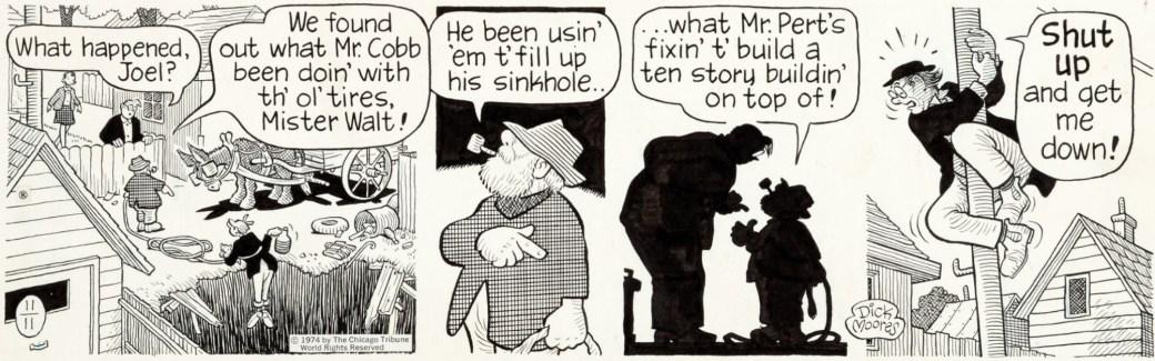En dagsstripp av Moores från 11 november 1974