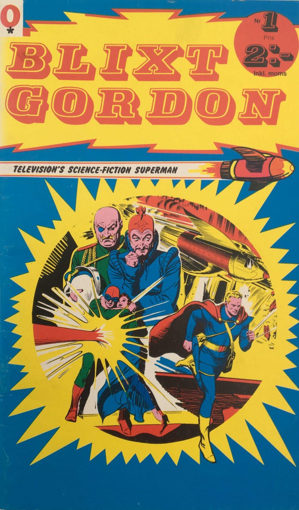 Omslag till Blixt Gordon nr 1, 1973 från ©Red Clown