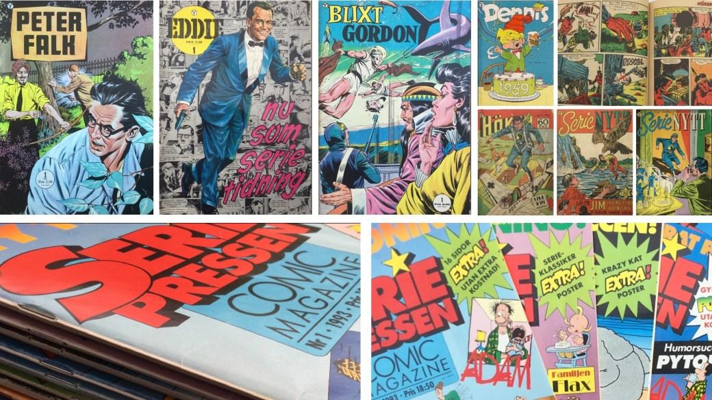 Förlag i Rogers Seriemagasin: Formatic Press var utgivare av Peter Falk, Eddie, Blixt Gordon, Dennis, Höken, Serie Nytt, SeriePressen