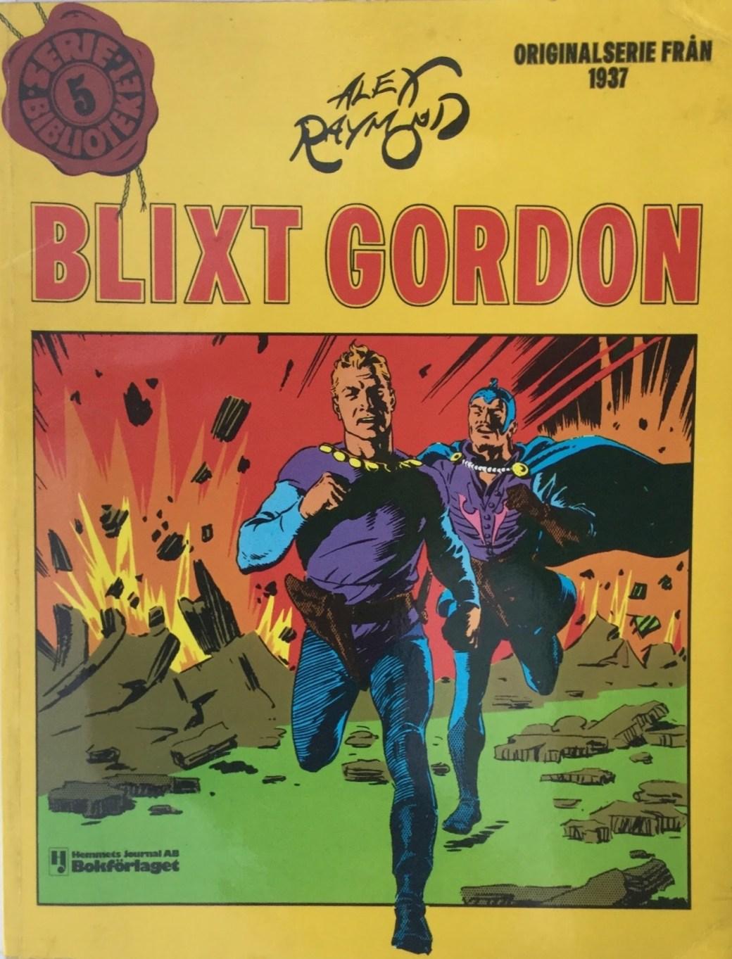 Omslag till Blixt Gordon Seriebiblioteket (Hemmets Journal) nr 5
