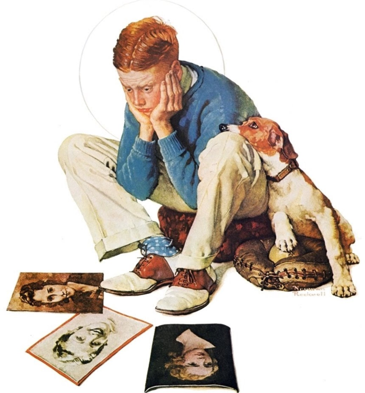 Modellen John Cullen Murphy kom att som vuxen bli serietecknare