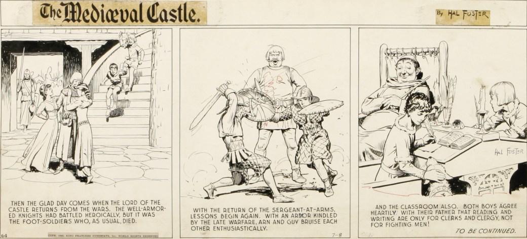 Ett original till The Mediæval Castle från den 8 juli 1945. ©KFS