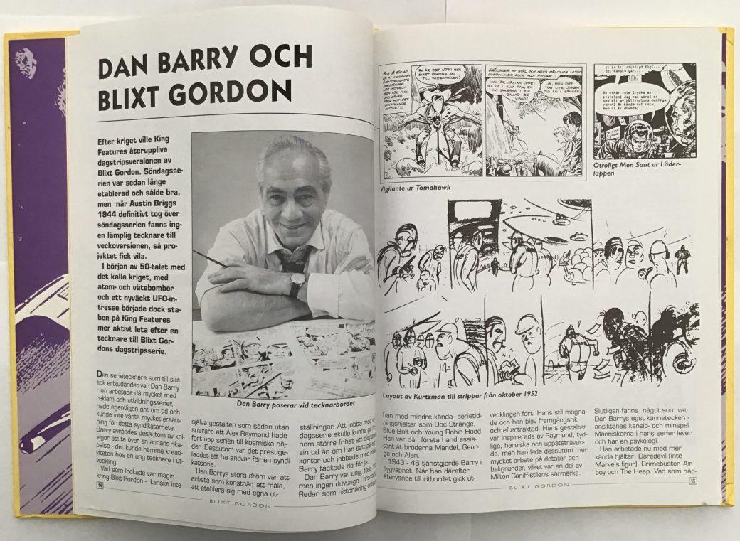 Blixt Gordon utgiven av Semic innehöll artiklar