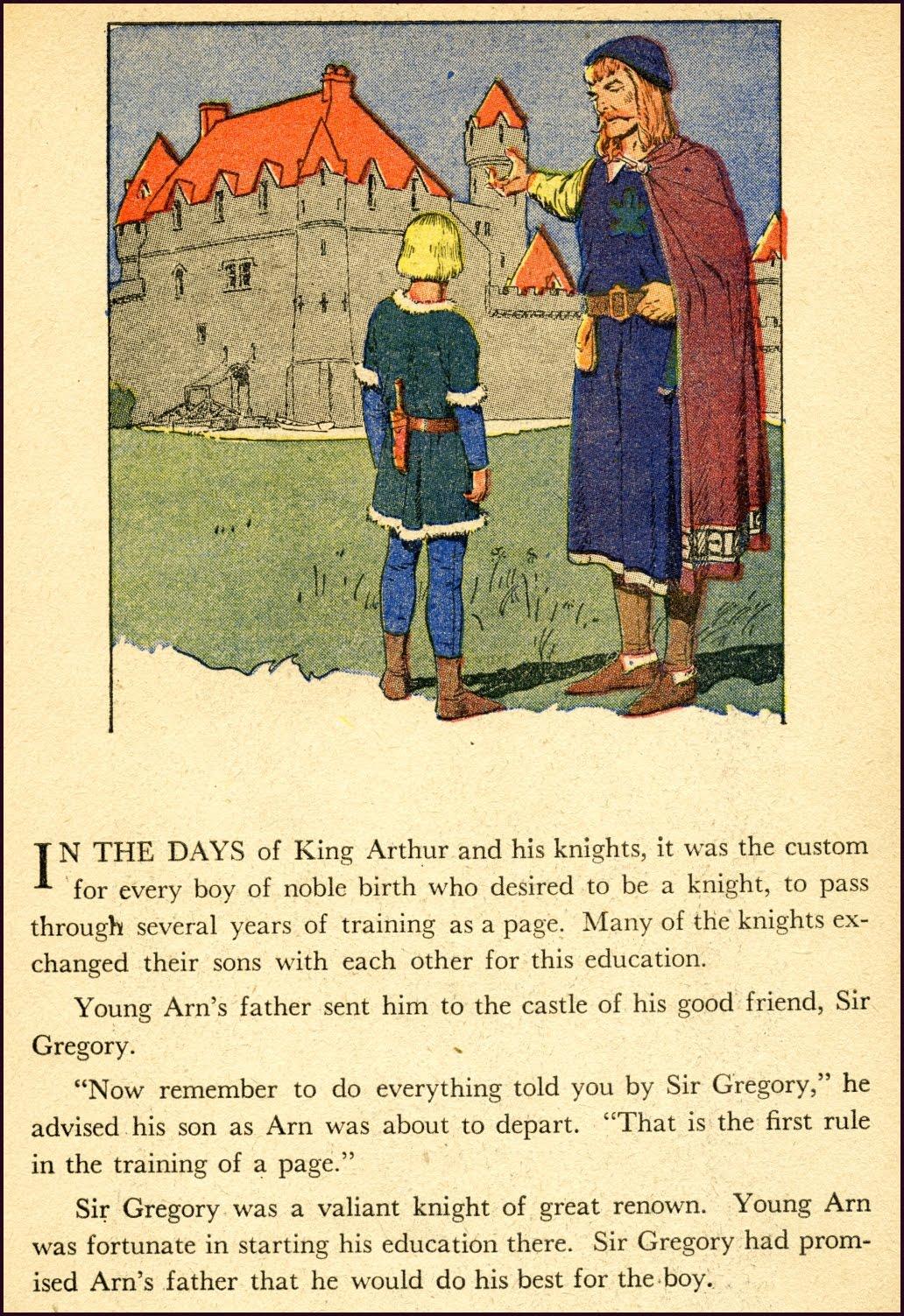 Första sidan i inlagan till The Young Knight