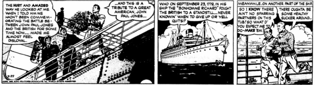 Tredje strippen från 22 februari 1950
