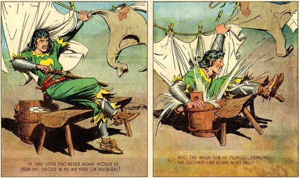 Ibland hade serien en humoristisk vinkel, som här den 19 maj, 1940