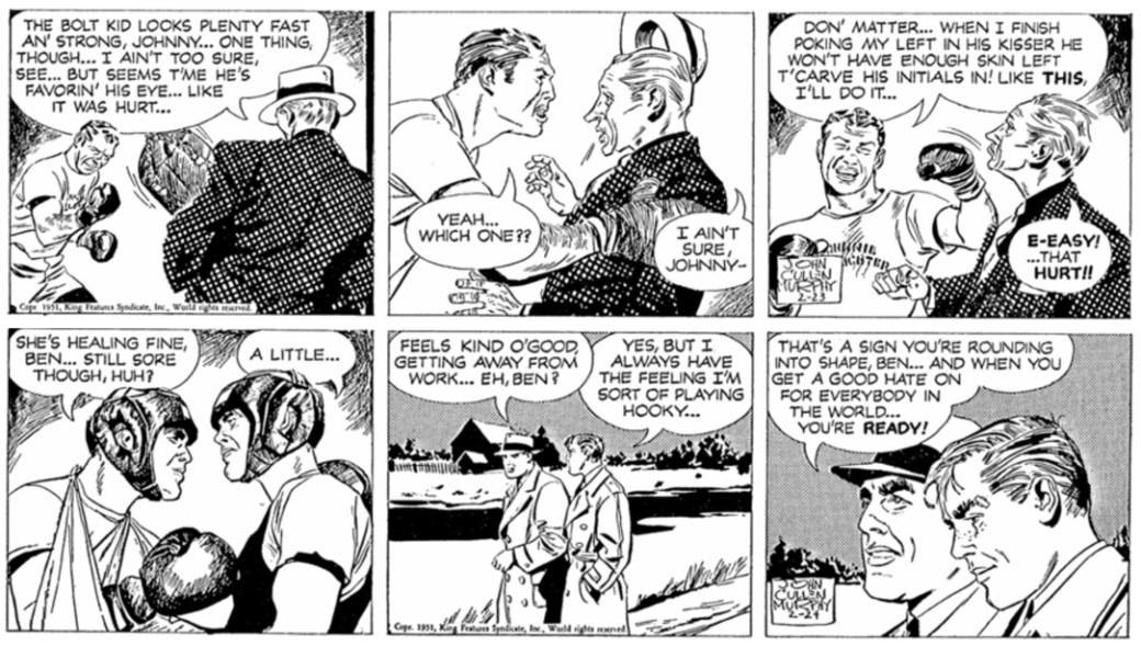 Strippen från den 24 februari 1951 saknas i den svenska tidningen