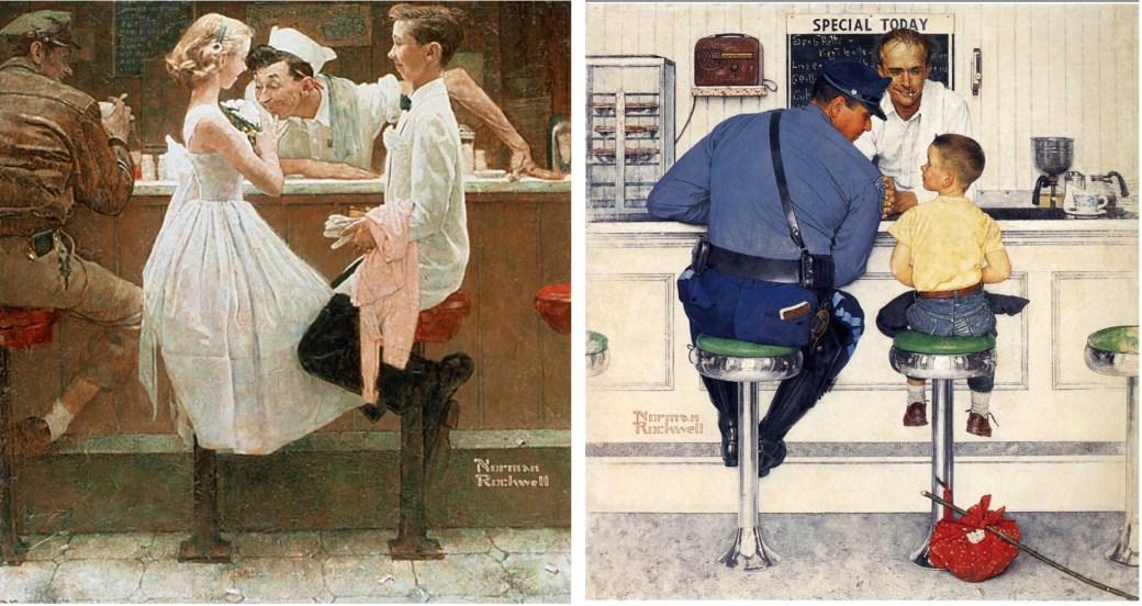 After the Prom, och The Runaway av Norman Rockwell