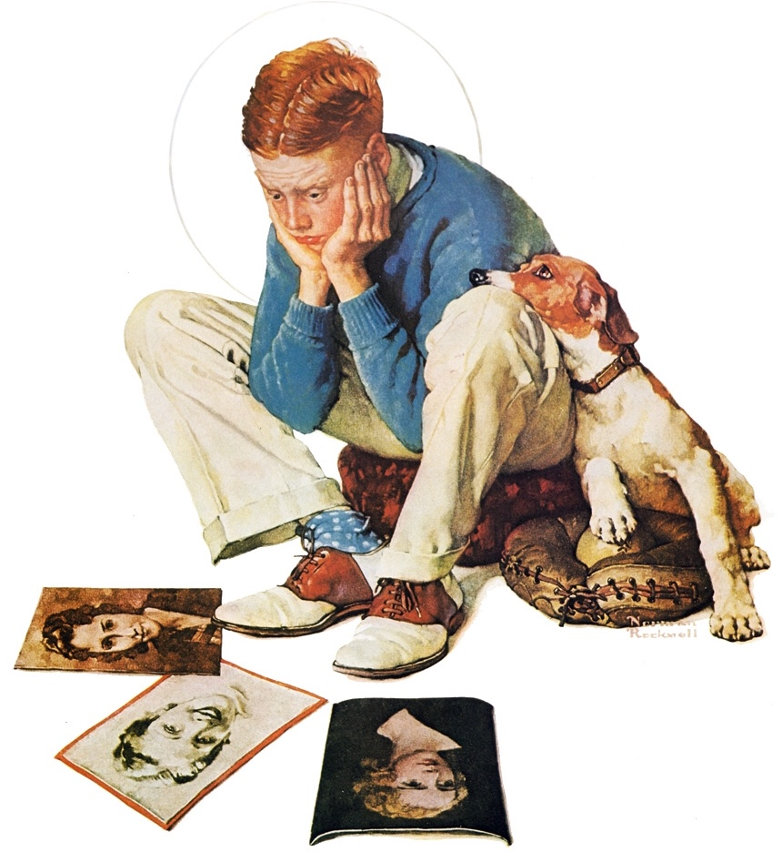 Omslagsillustration av Norman Rockwell för Saturday Evening Post 22 september 1934, med John Cullen Murphy som modell