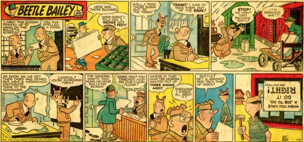 En söndagssida från 3 januari 1953