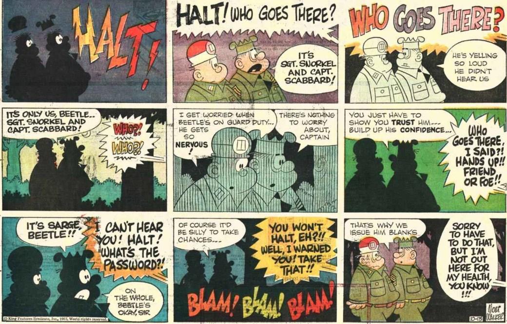 En Knasen-söndagssida från 13 oktober 1963