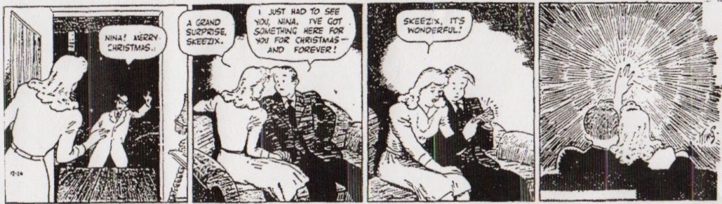 En dagsstripp från 26 december 1941, när Skeezix - hittebarnet - vuxit upp