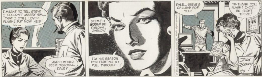 Original till en dagsstripp,från 9 juli 1960