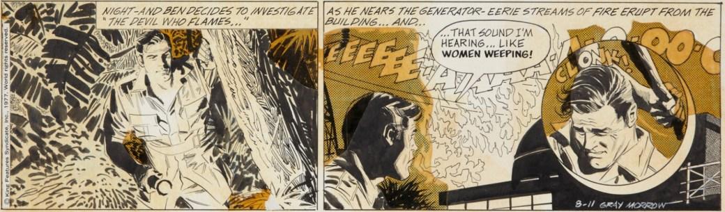 Originalet till en dagsstripp med Big Ben Bolt av Gray Morrow från 11 augusti 1977