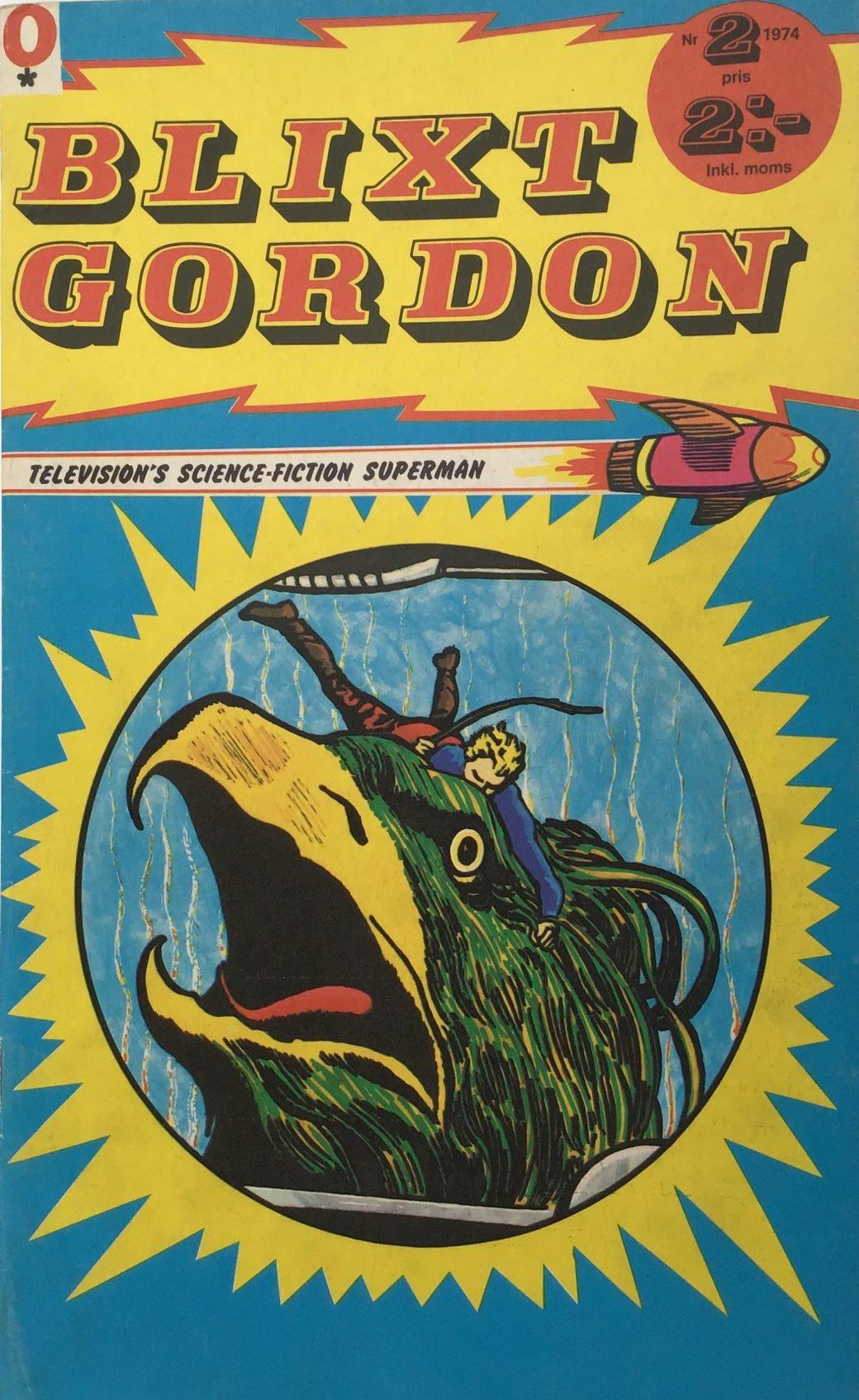 Omslag till Blixt Gordon nr 2, 1974