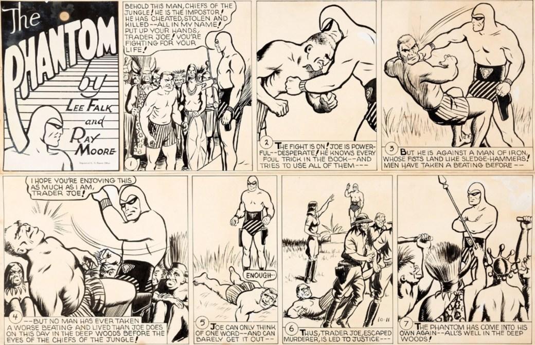 Originalet till söndagssidan ovan, från 11 oktober 1942