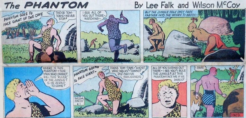 En söndagssida från 1 juni 1958 av Lee Falk och Wilson McCoy