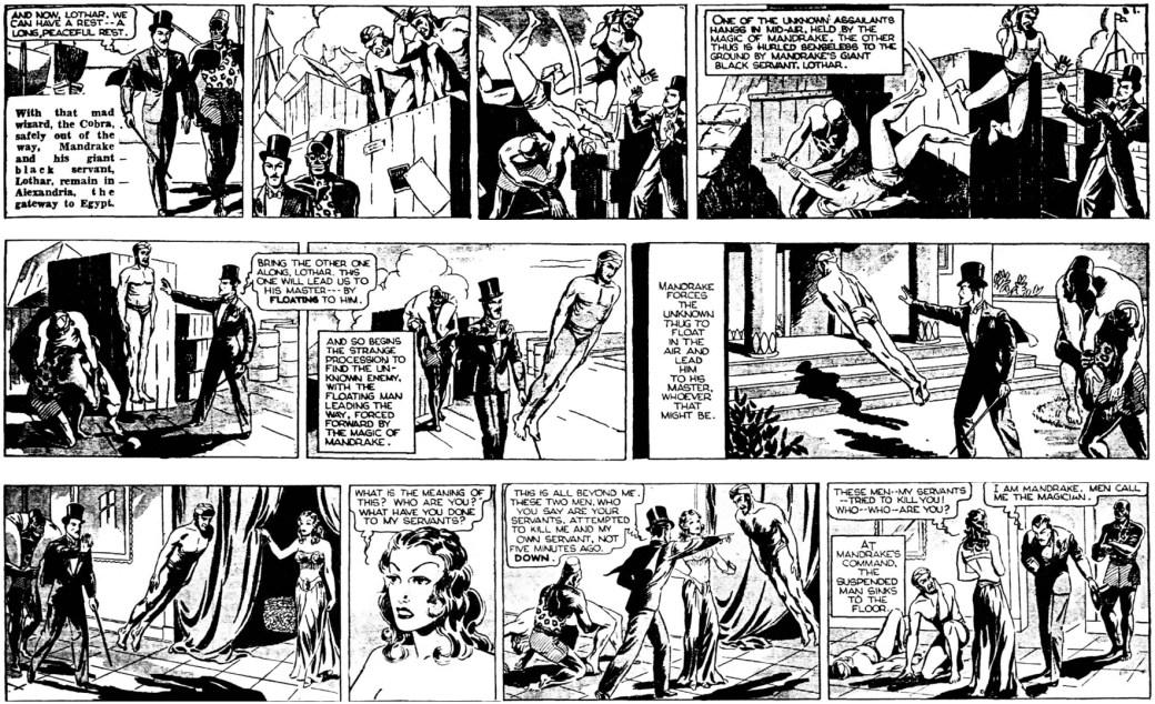 Mandrake träffade Narda den 28 november 1934, i episoden The Hawk som började den 24 november