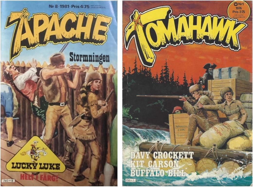 Davy Crockett publicerades också i Apache och Tomahawk