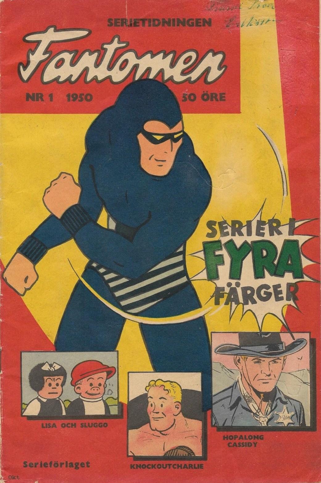 Första numret 1950 av serietidningen Fantomen