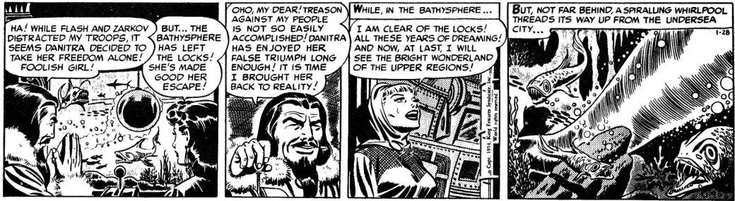 Dagsstrippen från 28 januari 1954, ur vilket bilderna ovan tagits