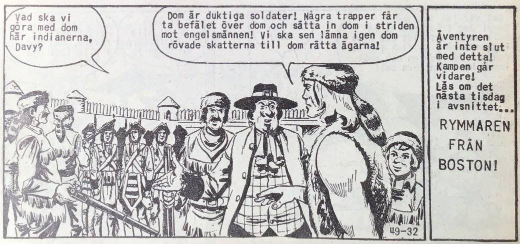 Den avslutande sidan ur Prärieserier nr 49, 1959