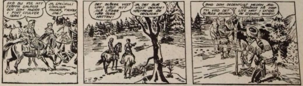 Den inledande strippen till Fortets hemlighet