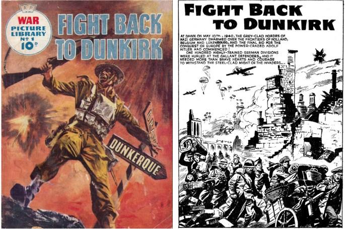 Första numret av War Picture Library innehåll Fight Back to Dunkirk