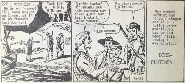 Den avslutande sidan ur Prärieserier nr 38, 1958